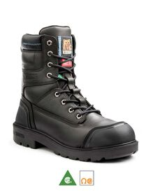 Men's Kodiak Blue Plus Aluminum Toe 8 Inch Work Boots - Black