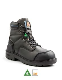 Men's Kodiak Blue Plus Aluminum Toe 6 Inch Work Boot - Black