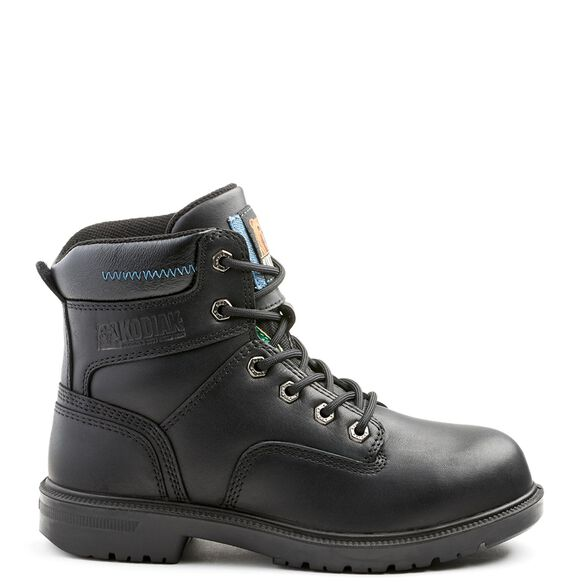 Women's Kodiak Blue Aluminum Toe 6-inch Work Boot - Black
