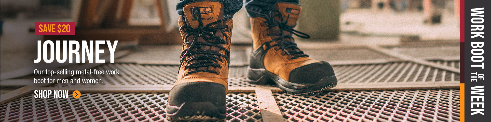 Shop Work Boot of the Journey : Crusade and save $20