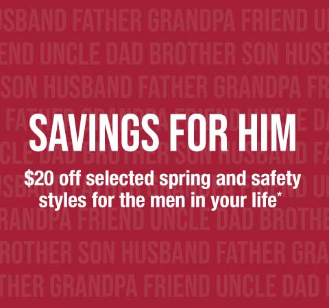 Extra $20 off selected men styles for Dad